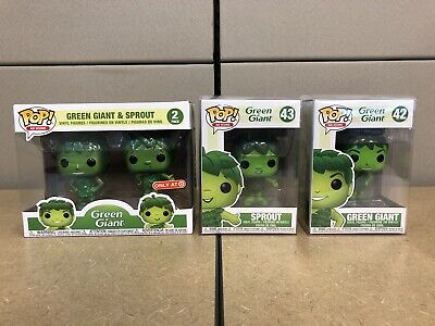 FUNKO POP! GREEN GIANT & SPROUT METALLIC~ TARGET EXCLUSIVE~ 2 PACK & Singles