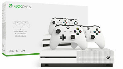 Xbox One S 1TB 2 Controllers Bundle