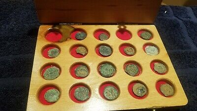 Antique Judaica - Set Of 18 Ancient Prutot Coins