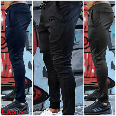 UK STOCK Mens Joggers Casual Sweatpants Slim Fit Tracksuit Jogging Bottoms Only