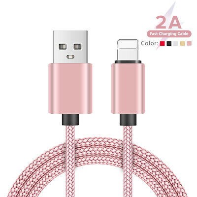nylon braided micro usb type c lightning cables super fast charging data sync 9