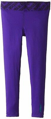 Reebok Little Girls Leggings Small 4 Compression Youth Sport Dance Cheer Fitness