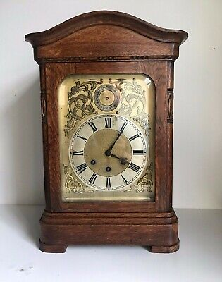 Gustav Becker Westminster Chimes German Mantel  Bracket Clock 44cm Tall