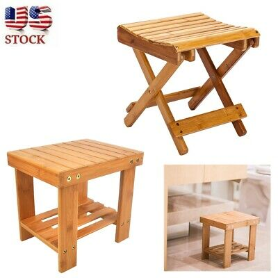 Fabulous Wood Shower Stool Shower Seat Wooden Bath Chair Portable Pabps2019 Chair Design Images Pabps2019Com