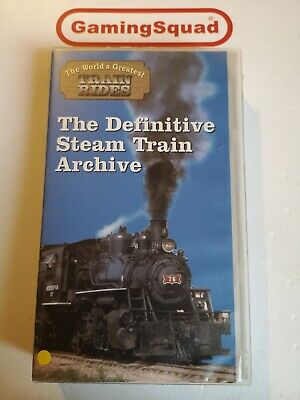 The Definitive Steam Train Archive VHS Video Retro, Supplied by Gaming Squad