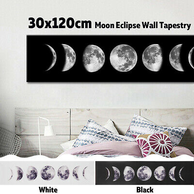 30x120cm Moon Eclipse Tapestry Printing Mysterious Wall Hanging Home Decoration