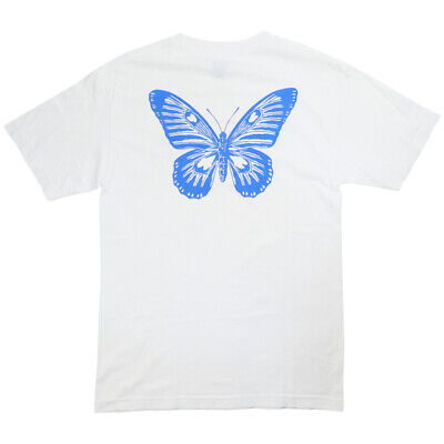 Girls Don't Cry BUTTERFLY PRINT T-SHIRT WHITE M