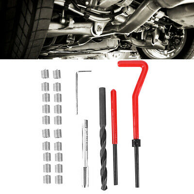 Microwave Communication Thread Repair Kit,30Pcs M3 x 0.5 Stainless Steel Twisted Drill Wrench Threaded Insert,Threaded Insert Tap Insertion Tool,Suitable for high Voltage switchgear