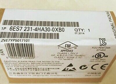 1PC New SIEMENS 6ES7 231-4HA30-0XB0 SIMATIC S7-1200 Analog Input Module