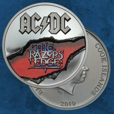 Cook Islands - AC/DC – The Razors Edge - 10 $ 2019 Antique - Silber - ACDC
