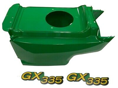 New Lower Hood & Set of 2 Decals Replaces AM132688 M145997 Fits John Deere GX335