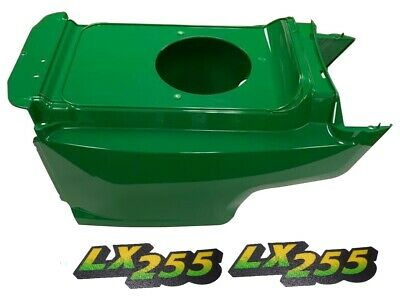 New Lower Hood & Set of 2 Decals Replaces AM132688 M126050 Fits John Deere LX255