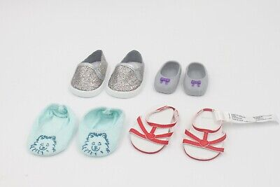American Girl 4 pairs of shoes kid 18'' doll accessories