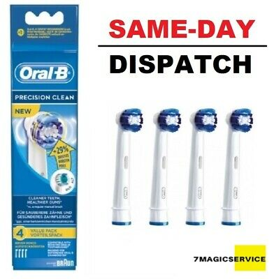 Braun Oral-B Precision Clean 1-4 Toothbrush Heads Same Day Dispatch