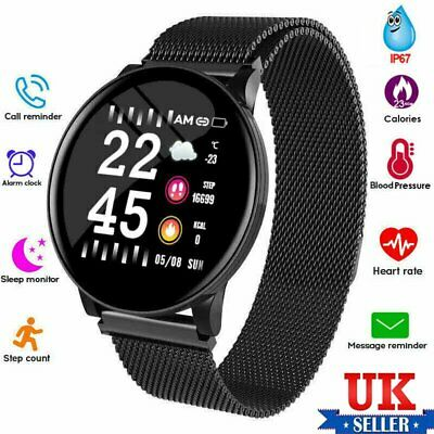 W8 Bluetooth Smart Watch Bracelet Heart Rate Monitor Sports Tracker Android IOS