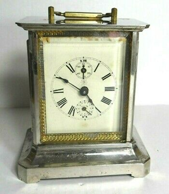 Antique JUNGHANS German Carriage Clock with Wear. Runs!  Please Read All