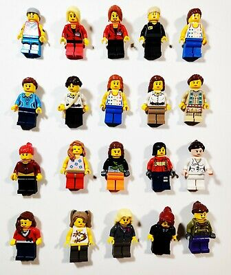Lego Girls Woman Female w/ Accessory Random Town City Minifigures Lot of 5