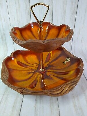 Sequoia Ware, 2-Tier Serving Dish, #713, Vintage, California Pottery