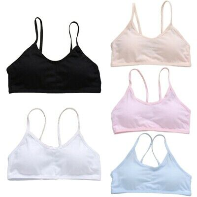 Soft Underwear Padded Teen Girls Cotton Bra Young Girls for Yoga Sports Bra