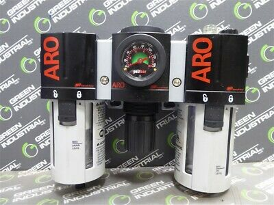 USED Aro C38341-800 Combination Filter-Regulator-Lubricator Assembly