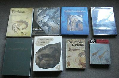 Collection of 8 good books on Paleolithic,Stone age, Cave  art, some oop