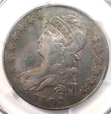1807 Capped Bust Half Dollar 50C Coin - Certified PCGS VF Details!