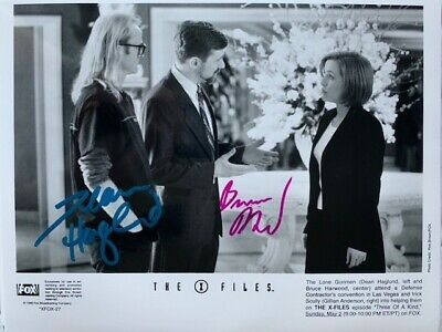 X-Files Autographed Three of a Kind Photo & Slide