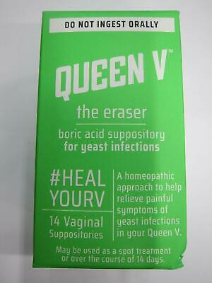 Queen V The Eraser Yeast Infection Treatment | Boric Acid | 14 Vaginal Supposi..