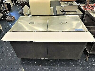 """Used 60"""" 2 Door Stainless Steel Refrigerated Sandwich Prep Table"""