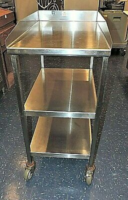 "30"" Southern Stainless Commercial Rolling Cart 3 shelf Stainless Steel"