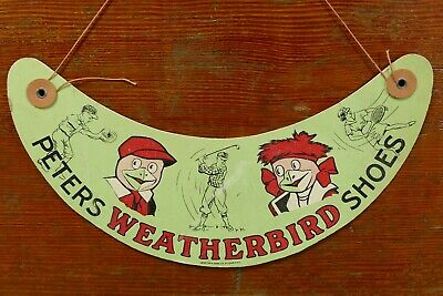 HTF Vintage Peters Weatherbird Shoes Paper Sports Visor Compton & Sons St. Louis