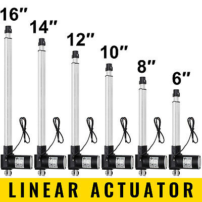 12V 6000N Linear Actuator Motor + Mounting Bracket For Auto Opener