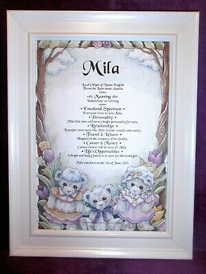 Baby's First Name Meaning Christening/Naming Day Gift Any Name Australian Seller