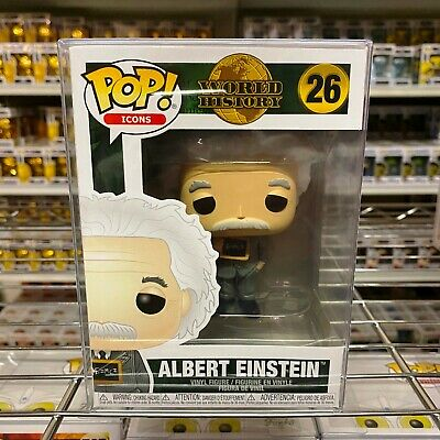 "Funko Pop Icons : Albert Einstein #26 Vinyl w/0.5mm case ""MINT"" (In Stock)"