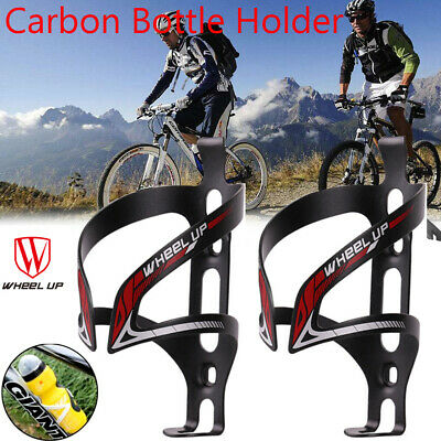 Full Carbon Fiber Bicycle Light Drink Water Bottle NEW Cage Holder New