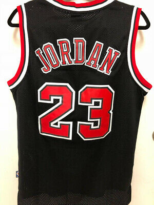 NWT Michael Jordan #23 Chicago Bulls Men's BLACK Swingman Sewn Jersey