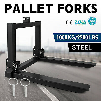 1T Pallet Forks Tines prongs full steel Tractor Tractors