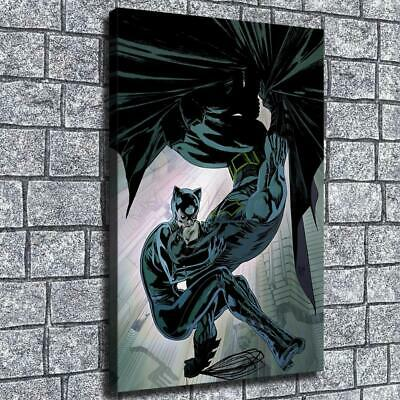 "12""x18""Catwoman and Batman Kiss HD Canvas prints Painting Home decor Room Wall"