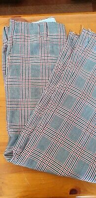 Vintage Retro 70s Plaid Long Pants Festival Theatrical Costume B2
