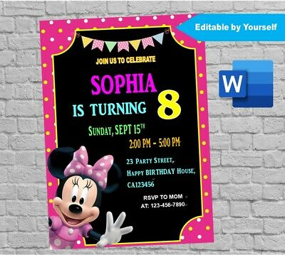 Lol Surprise Birthday Party Invitation Card Editable