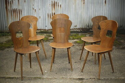 Set of 6 Mid century wooden Dining chairs