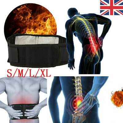 Magnetic Heat Waist Belt Brace Pain Relief Lower Back Lumbar Therapy Support UK