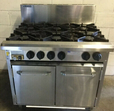 Commercial Restaurant LUUS Essentials 6 Burner With Pilot & Oven NG ..RRP $5300