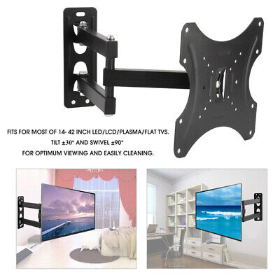 TV WALL MOUNT BRACKET LCD LED Plasma Flat Slim Pivot/Swivel Arms & Tilt TV Stand