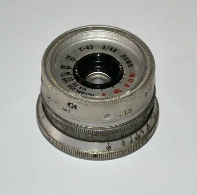 HAND MADE M39 mount USSR SILVER LOMO T-43 f4/40 LENS from SMENA-8m (2)
