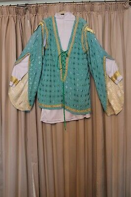 Principal boy Costume with detailed sleeves and tunic