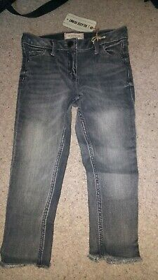 Girls NEXT BNWT Charcoal Grey Age (3-)4 Years Relaxed Skinny Fit Jeans