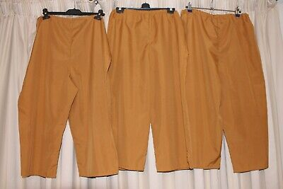 x3 pairs of baggy chorus trousers with elasticated waist.