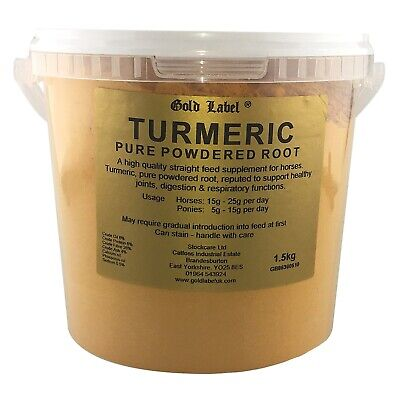 Gold Label Turmeric high quality straight feed supplement for horses. Pure powde