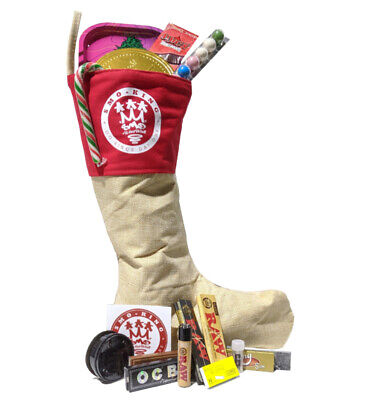SMO-KING Christmas Stocking Gift X RAW OCB Smoking rolling papers Large 16 inch